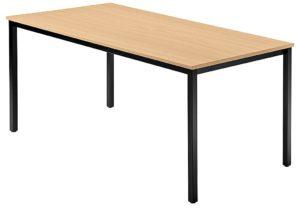 beliebig erweiterbarer Besprechungtisch Tischbeine Vierkant-Stahlrohr schwarz