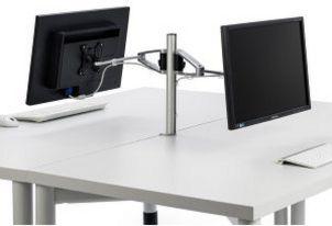 frei drehbare Monitor-Tischhalterung mit 2 Schwenkarmen