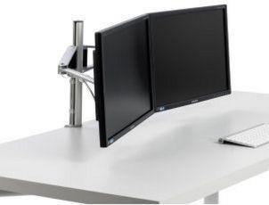 zweifache Monitor-Tischhalterung höhenverstellbar