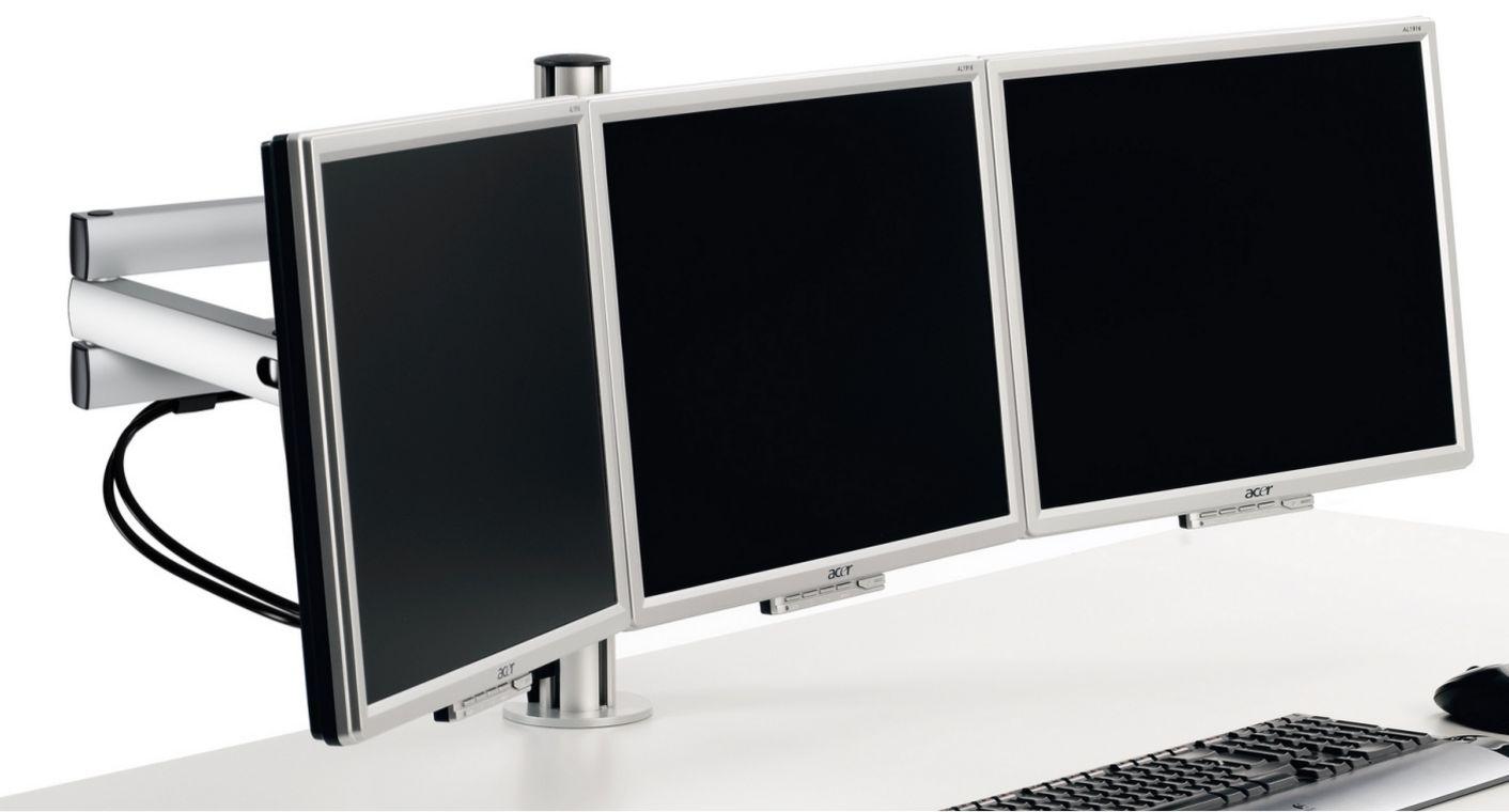 Schreibtisch-Monitorhalterung für 3 Computerbildschirme