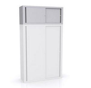 stapelbarer Büro-Stahlschrank mit Schiebetüren