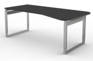 EDV-Schreibtisch Tischplatte anthrazit mit Kabelwanne