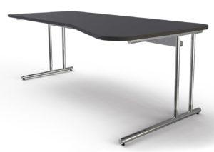 Schreibtisch höhenverstellbar und große Kabelwanne