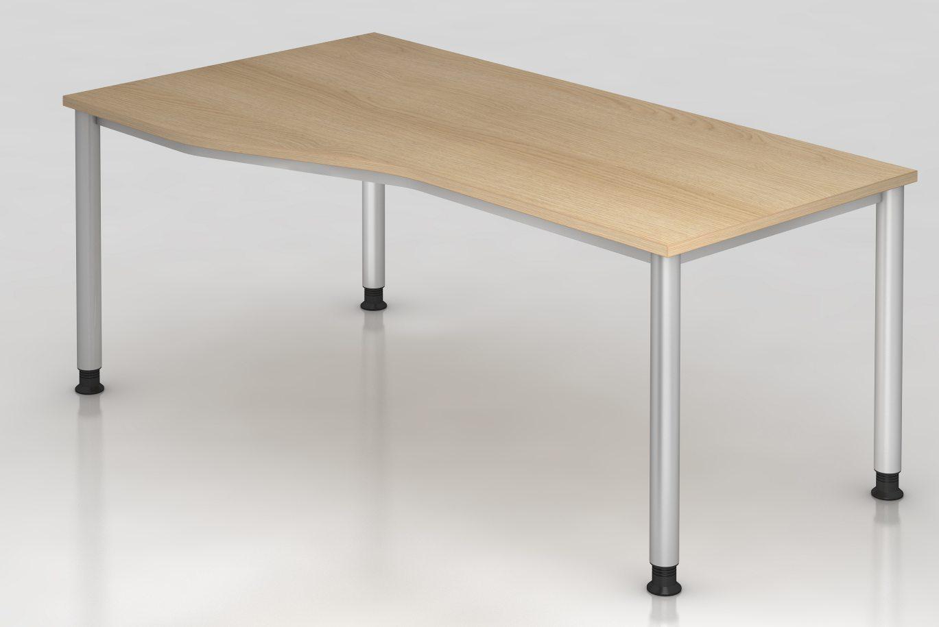 EDV-Schreibtisch robuste Tischplatte in Eiche-Holzdekor