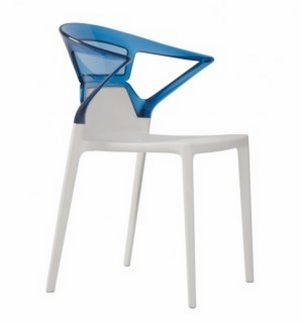stabiler und abwaschbarer Kunststoff-Stuhl