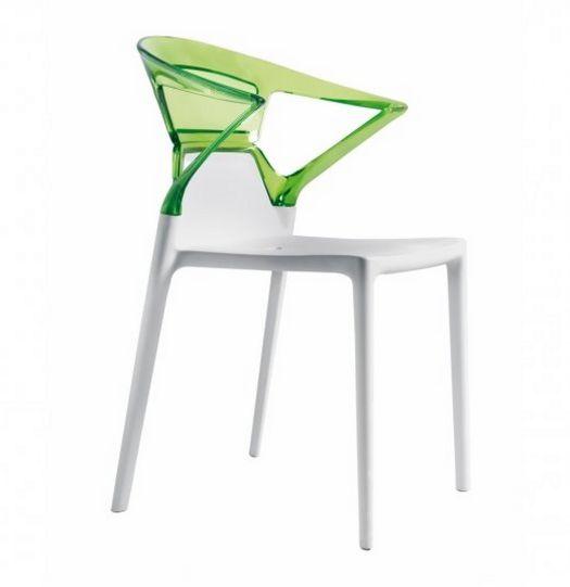 stapelbarer Gartenstuhl mit austauschbarer Rückenlehne
