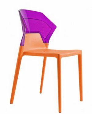 sehr stabiler und bequemer Stuhl mit transparentem Sitz