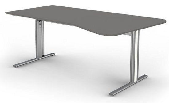 höhenverstellbarer EDV-Schreibtische mit Kabelwanne