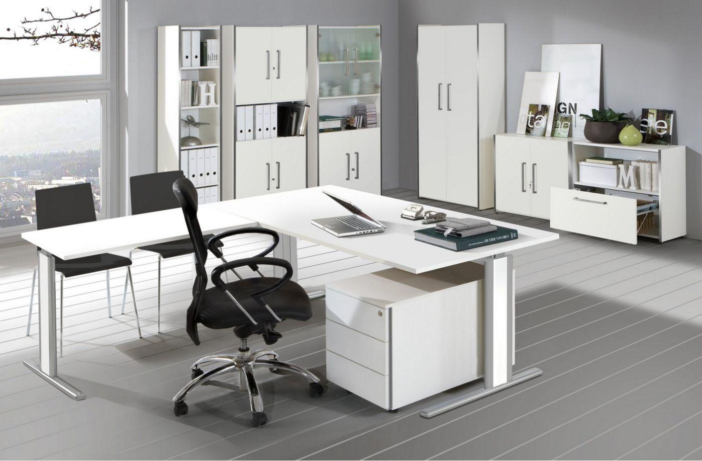 hochwertige Büroschränke weiß
