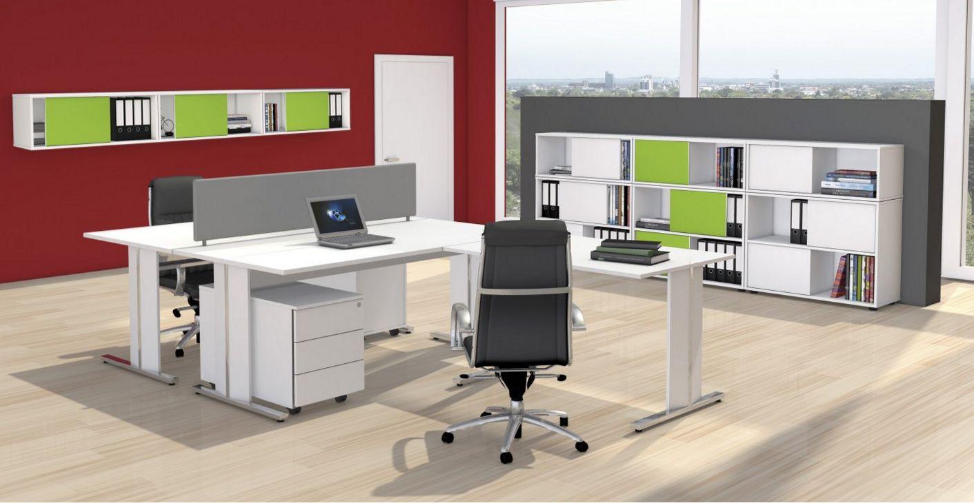 Büroschränke mit zweifarbigen Wendetüren