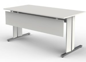 Büroschreibtisch mit weißer Tischplatte 160 x 80 cm