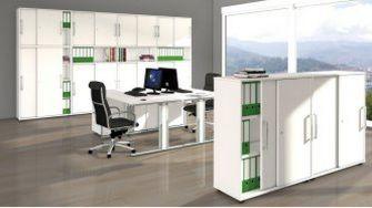 robuste Büroschränke abschließbare Schiebetüren