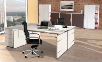 weiße Schiebetüren-Büroschränke