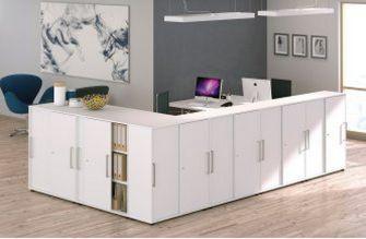 abschließbare Schiebetüren-Büroschränke-Raumteiler