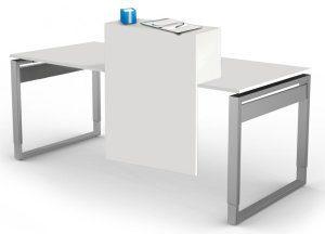 höhenverstellbarer Kufengestell-Schreibtisch