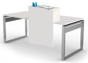 Schreibtisch mit Thekenaufsatz