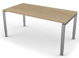 höhenverstellbarer Schreibtisch mit großem Kabelkanal