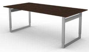 höhenverstellbarer 6-Personen-Besprechungstisch kratzfeste Holztischplatte