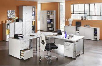 robuste-preiswerte Büromöbel hellgrau