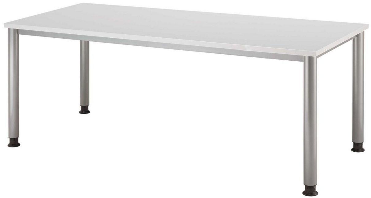 höhenverstellbarer Büro-Schreibtisch mit großer Tischplatte