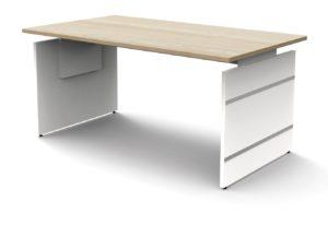 Wangengestell-Schreibtisch (160 x 80) mit höhenverstellbarer Tischplatte