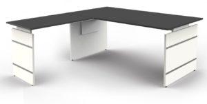 höhenverstellbarer Winkelschreibtisch 180 x 180 cm