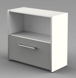Büro-Sideboard 1 Schublade und 1 offenes Schrankfach