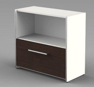 kleiner Büro-Aktenschrank mit einer Hängeregister-Schublade und ein Schrankfach für Aktenordner