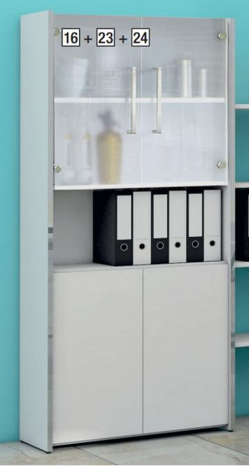 Büroschrank mit push-to-open Türen