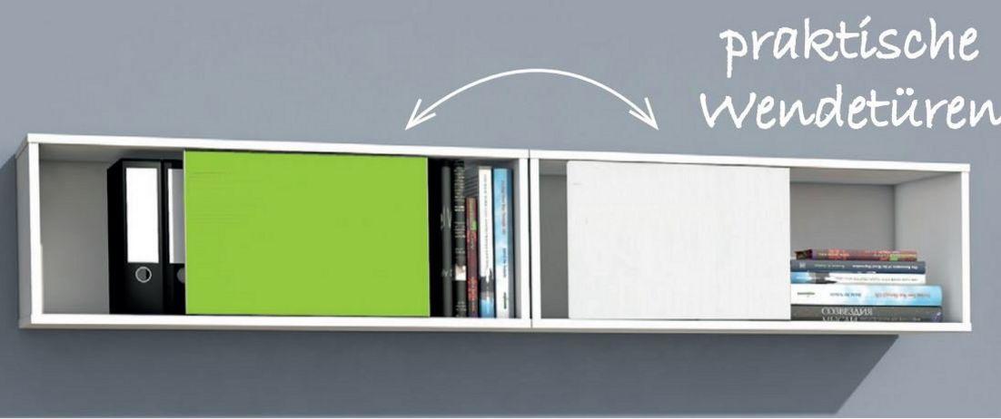 moderner Büro-Wandregalschrank Schiebetüren