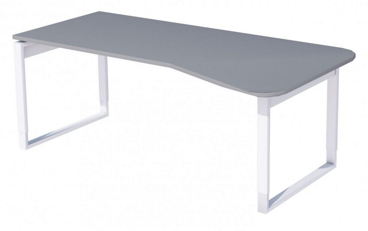 EDV-Schreibtisch höhenverstellbar großer Tischplatte mit Kabelkanal