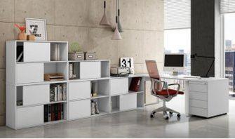 stapelbare Büro-Schiebetrürenschränke robust-preiswert