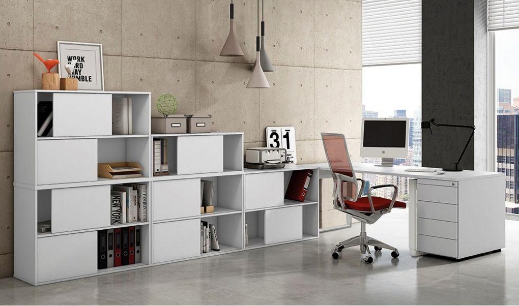 stapelbare Büroschränke mit Schiebetüren
