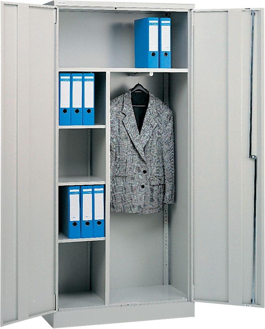 Stahl-Büroschrank mit Garderobeneinsatz