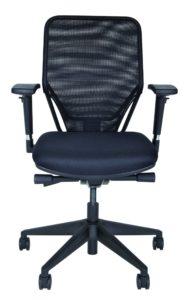 bequemer Schreibtischstuhl mit Polstersitz und Rückenlehne mit Netzbezug