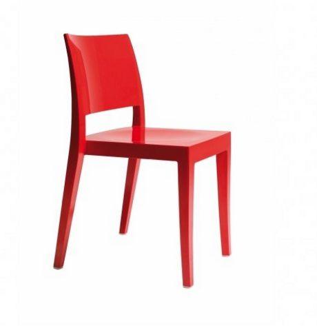 stapelbarer Stuhl aus witterungsbeständigem Polycarbonat weiß