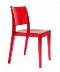 Besucher-Stuhl mit Armlehne und transparenter Sitzschale
