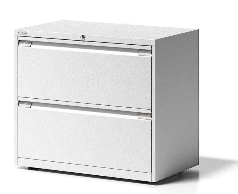 doppelbahniger Hängeregister-Stahlschrank zwei abschließbare Hängemappen-Schubladen
