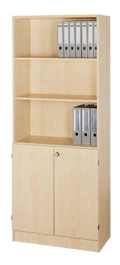 halboffener Büroschrank Ahorn-Holzdekor