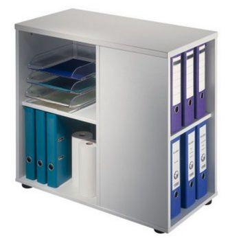 halboffener Schreibtisch-Beistellcontainer höhenverstellbar