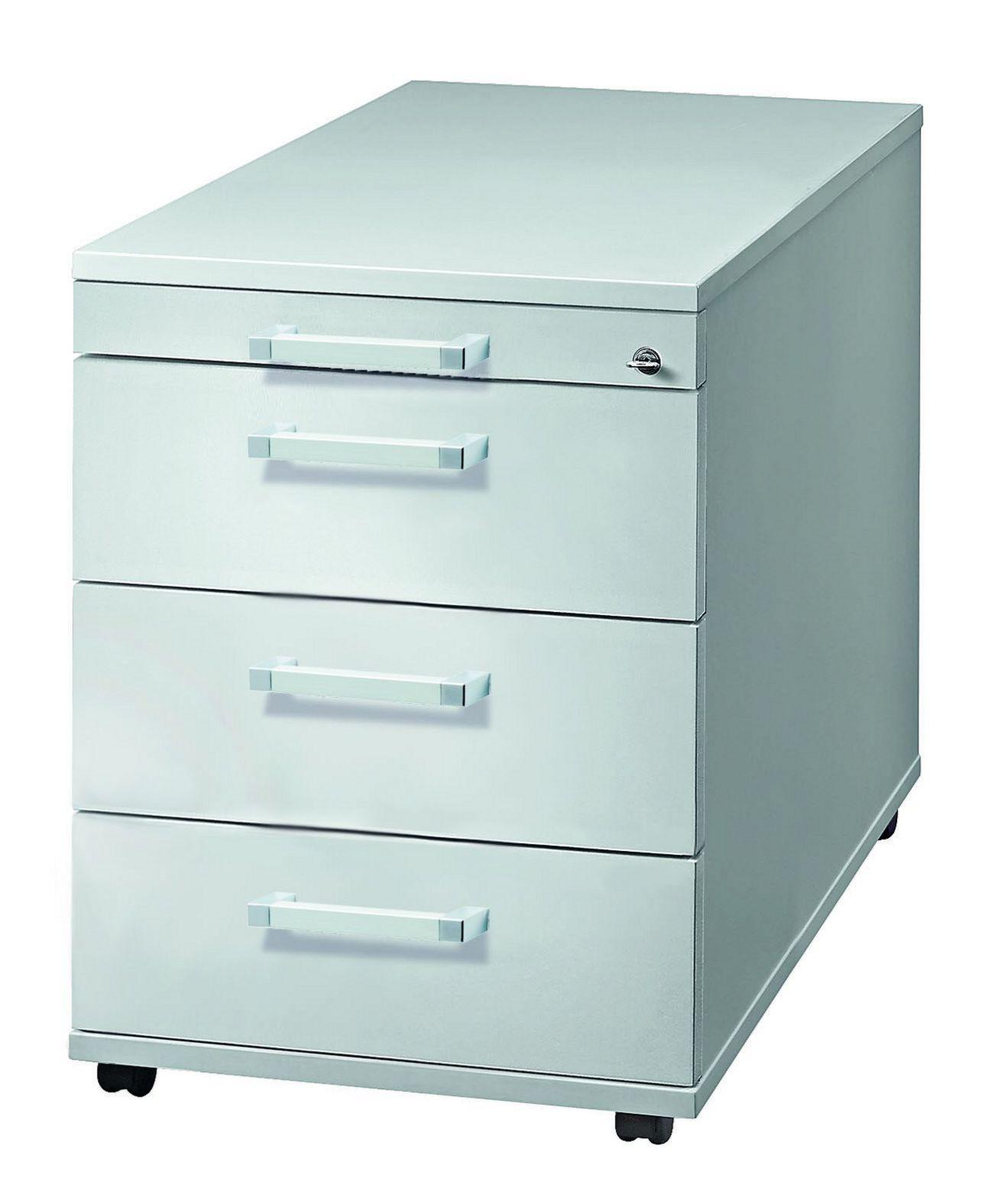 abschließbarer Schreibtisch-Rollcontainer Orga-Schubladen