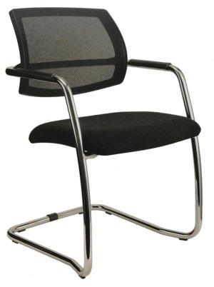 Freischwinger-Konferenztischstuhl mit luftdurchlässiger Rückenlehne