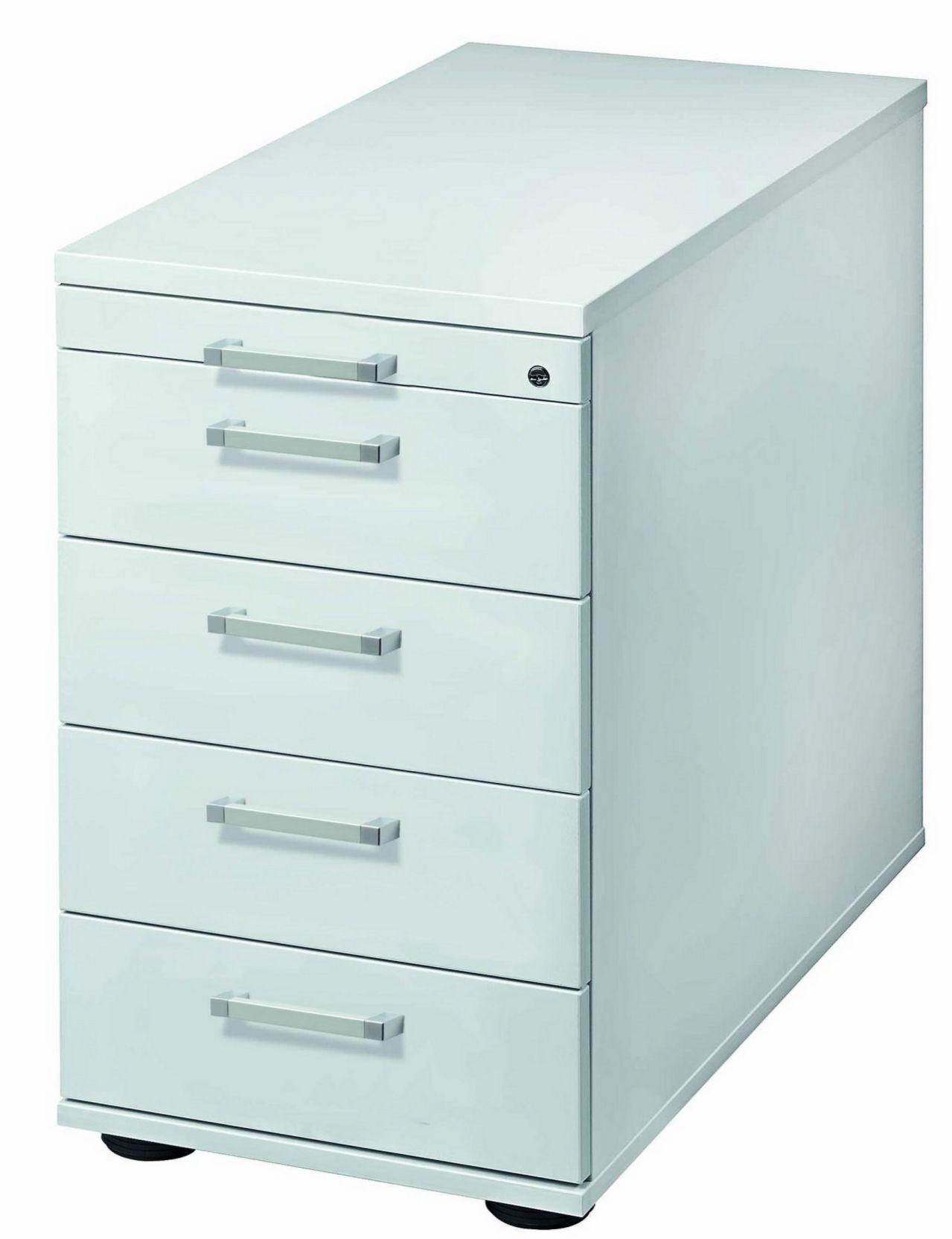 abschließbarer Schreibtisch-Anstellcontainer mit Orga-Schubladen