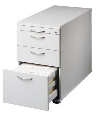abschließbarer Schreibtisch-Anstellcontainer Orga-Schubladen