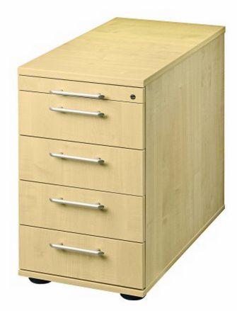 Schreibtisch-Anstellcontainer Ahorn