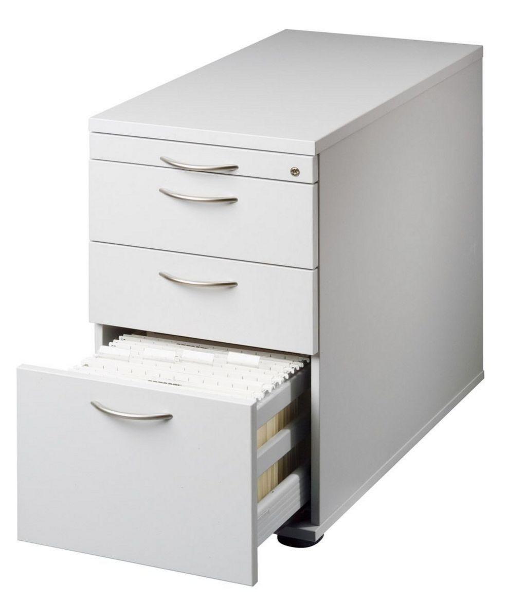 abschließbarer Schreibtisch-Anstellcontainer Hängeregisterschublade