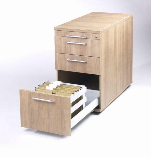 abschließbarer Hängeregister-Schreibtisch-Anstellcontainer höhenverstellbar