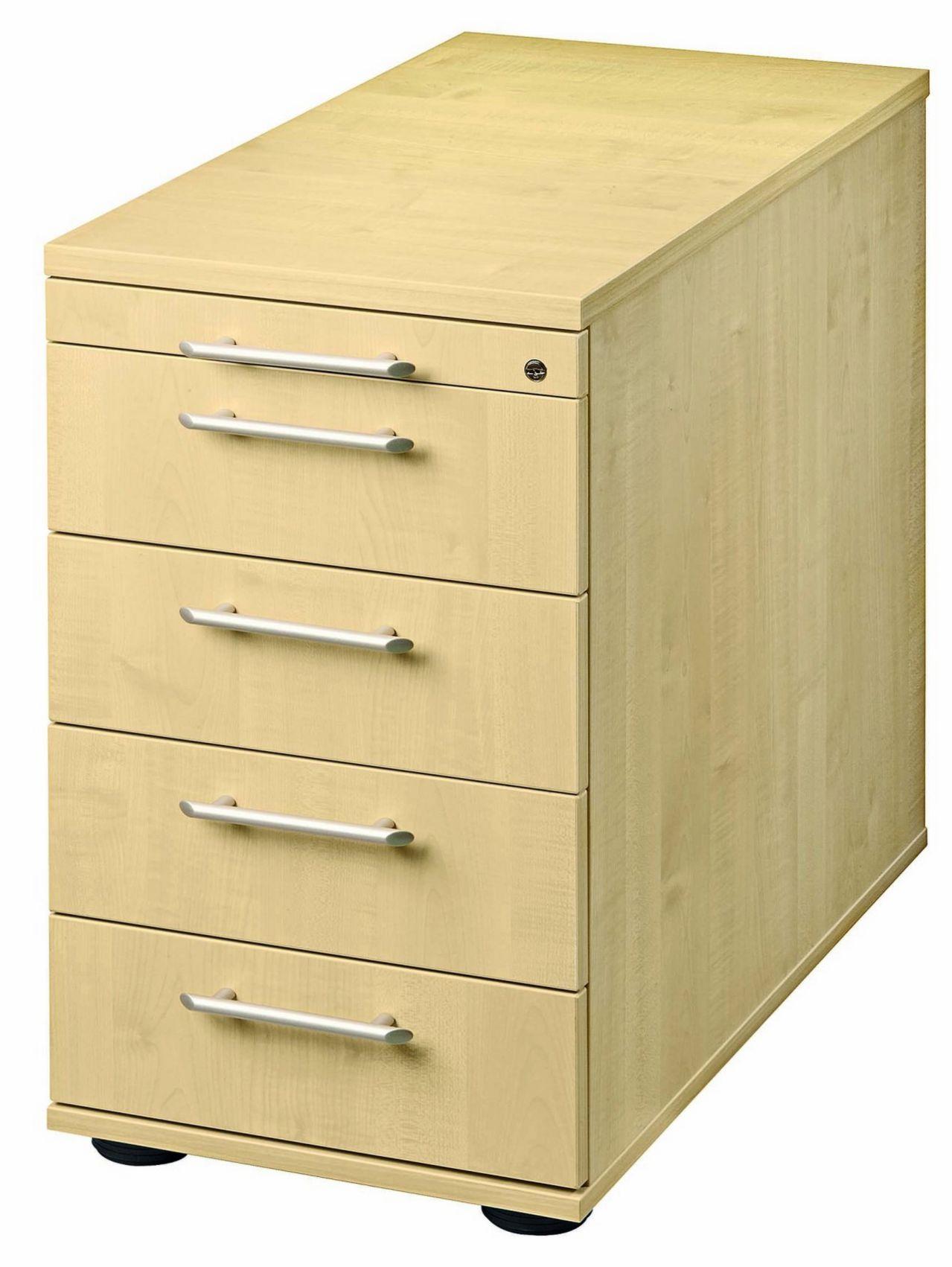 höhenverstellbarer und abschließbarer Schreibtisch-Anstellcontainer
