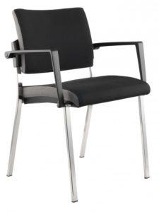stapelbarer Konferenzraumstuhl mit bequemen Polstersitz und schwer entflammbaren Sitzbezug