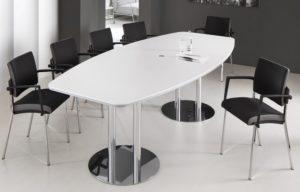 bequemer Konferenzzimmerstuhl mit 12-Personen-Konferenztisch